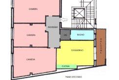 Piantina colorata Appartamento